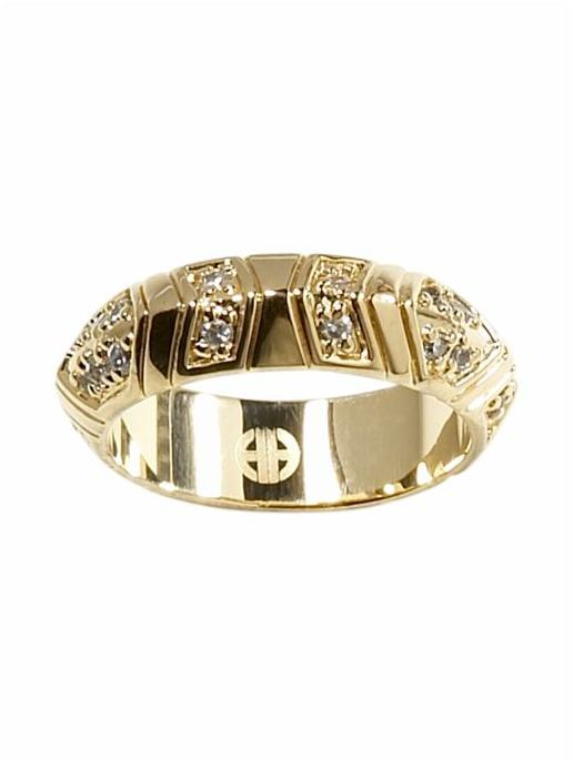 House of Harlow 1960 Pave Medium Stackable Ring