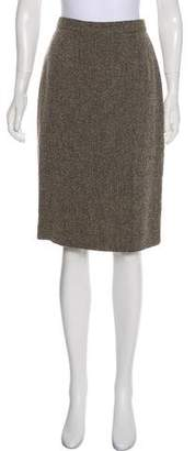 Calvin Klein Collection Wool Knee-Length Skirt