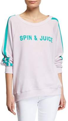 Wildfox Couture Spin & Juice Striped Pullover Sweater