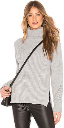 Bobi Ribbed Turtleneck Sweater
