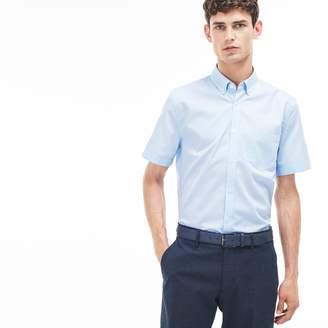 Lacoste Men's Regular Fit Texturized Poplin Shirt