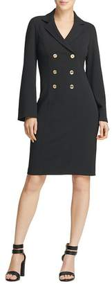 Donna Karan Double-Breasted Shirt Dress