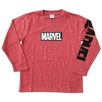 Marvel [マーベル] 天竺ロゴプリントTシャツ(長袖)(8421-5124) OTH-775 ボーイズ レッド 日本 150 (日本サイズ150 相当)