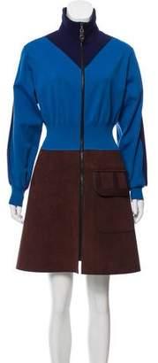 Louis Vuitton Colorblock A-Line Dress