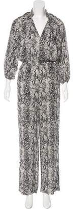 Tamara Mellon Printed V-Neck Jumpsuit