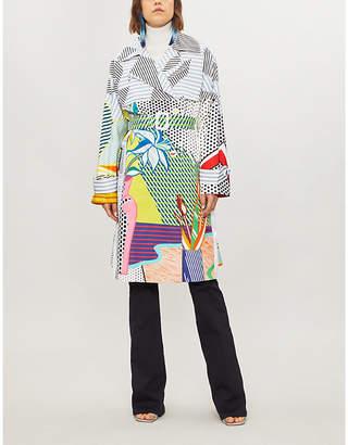 Mary Katrantzou Pop art-print cotton-blend trench coat