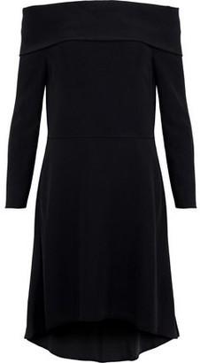Theory Kensington Off-The-Shoulder Crepe Dress