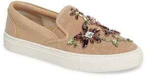 Tory Burch Meadow Embellished Slip-On Sneaker