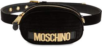 Moschino Velvet Belt Pack