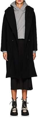 Yohji Yamamoto Women's Wool Melton Double-Breasted Zip Coat