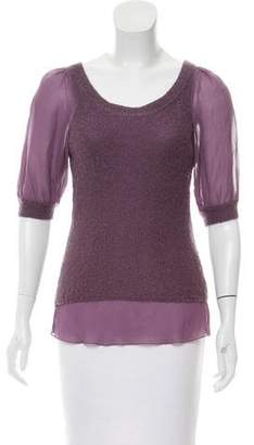 Philosophy di Alberta Ferretti Mohair Knit Top