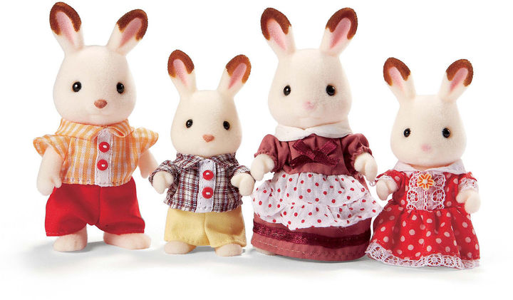 INTERNATIONAL PLAYTHINGS Calico Critters Hopscotch Rabbit Family