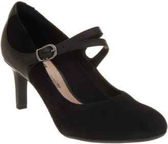 Clarks Suede Mary Jane Pumps - Dancer Reese