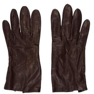 Saks Fifth Avenue Leather Wrist Gloves