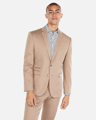Express Slim Cotton Sateen Stretch Suit Jacket