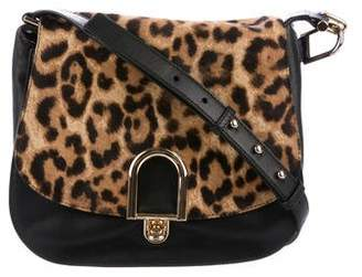 Michael Kors Ponyhair & Leather Saddle Bag