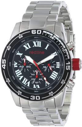 Redline Red Line Men's RL-60043 Chronograph Black Dial Stainless Steel Watch