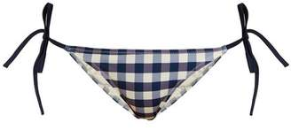 Solid & Striped The Charlotte Gingham Bikini Briefs - Womens - Navy