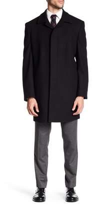 Hart Schaffner Marx Topper Wool Blend Overcoat