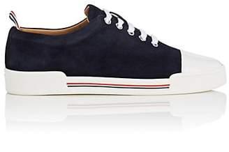 Thom Browne Women's Cap-Toe Suede Sneakers - Navy