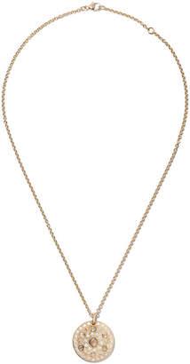 De Beers 18kt yellow gold Talisman Medal diamond pendant necklace