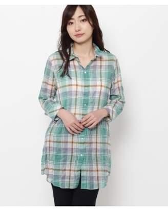 smartpink (スマートピンク) - スマートピンク [洗える]シャーリングチェックシャツ