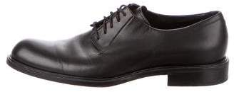 Giorgio Armani Leather Round-Toe Oxfords