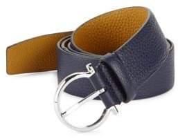 Salvatore Ferragamo Gancio Buckle Belt with Extended Strap
