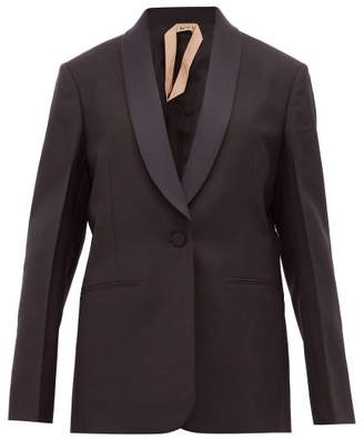 No.21 No. 21 - Shawl Lapel Mohair Blend Tuxedo Jacket - Womens - Black
