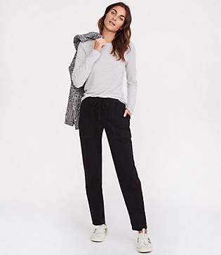 Lou & Grey Brushed Sateen Utility Pants