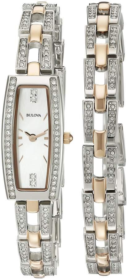 Bulova Women's 98X110 Analog Display Quartz Two Tone Watch