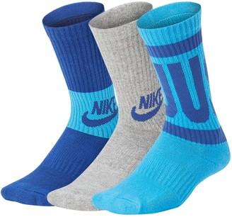 Nike Boys 4-20 Performance Training 3-Pack Crew Socks