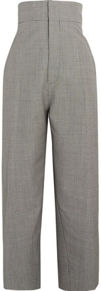 Jacquemus - Houndstooth Wool And Mohair-blend Tapered Pants - Black $620 thestylecure.com