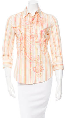 Robert Graham Striped Button-Up Top $95 thestylecure.com