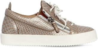 Giuseppe Zanotti Design 20mm Snake Printed Leather Sneakers