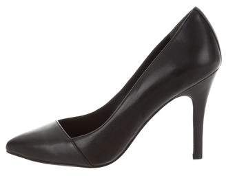 Brooks Brothers Leather Pointed-Toe Pumps