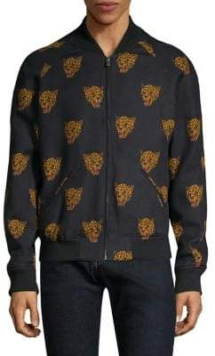 The Kooples Leopard-Print Bomber Jacket
