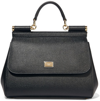 Dolce & Gabbana - Sicily Medium Textured-leather Tote - Black $1,745 thestylecure.com