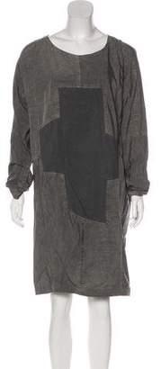 Jeremy Laing Long Sleeve Knee-Length Dress