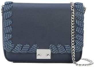 Loeffler Randall lace-up trim shoulder bag