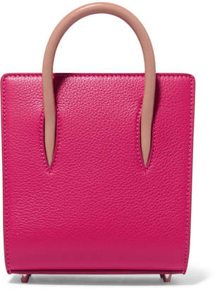 Christian Louboutin Paloma Nano Spiked Textured-leather Tote - Pink