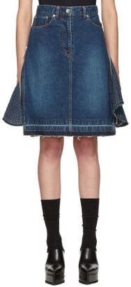 Sacai Blue Denim Skirt