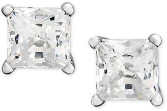 Macy's Diamond Earrings, 14k White Gold & Yellow Gold Princess Cut Diamond Studs (1 ct. t.w.)