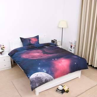 PiccoCasa 3D Bedding Bedlinen Galaxies Sky Star Space Night Duvet Cover Set