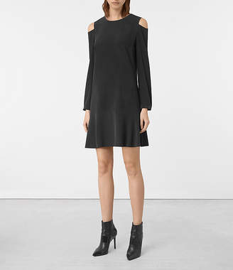AllSaints Faro Silk Dress