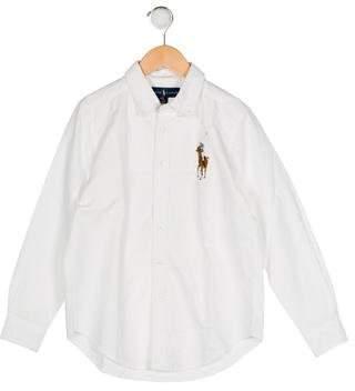 Ralph Lauren Boys' Button-Up Collar Shirt