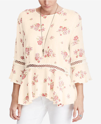Denim & Supply Ralph Lauren Cotton Floral-Print Blouse $98 thestylecure.com