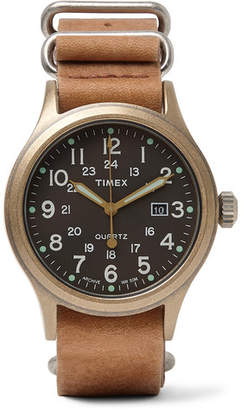 Timex Allied Stainless Steel and Stonewashed Leather Watch - Men - Tan