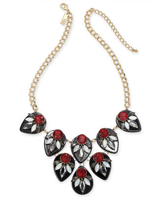 "INC International Concepts I.n.c. Gold-Tone Multi-Stone Statement Necklace, 18"" + 3"" extender"