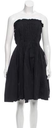 Lanvin Strapless A-Line Dress